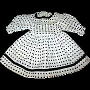 "Sweet Vintage Blue Polka Dot Doll Dress - For a 12 - 13"" Doll"