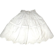 Vintage Half Slip / Petticoat for French Fashion or Other Small Doll
