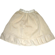 "Vintage Petticoat / Half Slip 12"" Long For Your Doll"