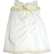Full Vintage Slip w Ribbon Opening for Your Small Doll - free shipping
