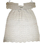 Gorgeous Unused Crocheted Large Doll Dress w Matching Bonnet