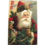 Very Popular Serie 259 German Santa Claus Portrait Postcard
