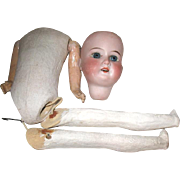 Early Armand Marseille 390 Bisque Head Doll for Restoration