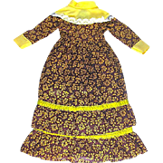 "Pretty Floor Length Colorful Cotton Doll Dress  - 13"" long"