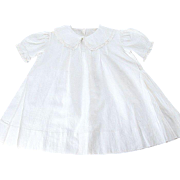 "Pretty 40's Dress for Large Chunky Doll - Batiste, Lace - 17"" long"