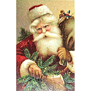 Series 259 Santa Claus Portrait Christmas Postcard - Holds Switches & Toys