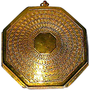 "Rare ""Fioret Paris"" Marked Octagon Shaped Art Deco Compact"