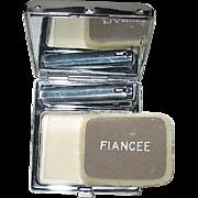 "Beautiful Art Deco Unused ""Fiancee"" Vanity Compact w Box - PRISTINE"