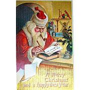 Great Image of Santa Claus for Antique Christmas Postcard, Ser. 156