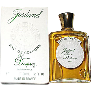 "Discontinued Vintage Jean Desprez ""Jardanel"" Eau de cologne 2 oz., MIB"