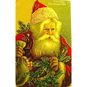 Rare German Santa Claus GEL Portrait Postcard ~ Series 259