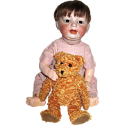 "Adorable German 16"" Character Baby Doll ~ Mold 522 ~ RARE"