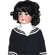 "Beautiful German 33"" Bisque Head Doll ~ Vintage Sailor Dress ~ Free Shipping"