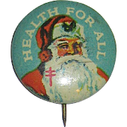 Vintage 40's  Santa Claus  Pinback ~ Perfect for Your Small Doll