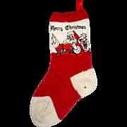 Vintage 40's Santa Claus Christmas Stocking for Dollhouse