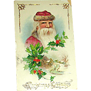 Barton Spooner Christmas Postcard ~ Handsome Santa Claus