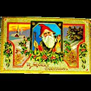 Saxony Printed Santa Claus Postcard ~ Ser. 06 34 (1 of 2 offered)