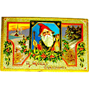Saxony Printed Santa Claus Postcard ~ Ser. 06 34 (1 of 2 offered)