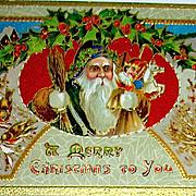 Saxony Printed Santa Claus Postcard ~ Ser. 06 34 (2 of 2)