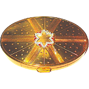 Rare Richard Hudnut Jeweled Vanity Compact w Contents