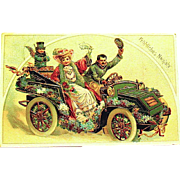 Happy New Year German GEL Postcard ~ Great Graphics