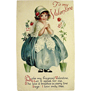 Two Delightful Clapsaddle Designed Valentine Postcards ~ Wolf Publishing