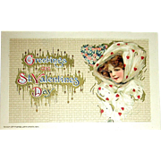 Pristine Schmucker Designed Pretty Woman Winsch Valentine Postcard