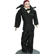 Doll House Bisque Gentleman - Father Doll, Original Black Silk Suit