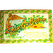 "Pretty Tuck Saint Patrick's Day Postcard—""Erin Go Brac"""