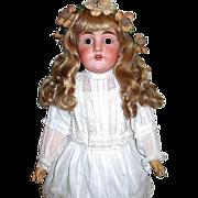 Beautiful Large Dep. Kestner Doll ~ Perfect Head ~ Rare 1903 Body ~ White Lawn Dress
