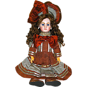Gorgeous Jumeau Doll ~  Perfect Bisque Head, Sturdy BJB, Couture Made Costume
