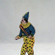 Kasper Coffee Germany Diecut Cardboard and Wood Clown Game Piece Freebie