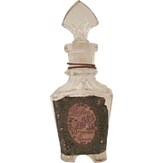 Djer-Kiss Glass Perfume Bottle with Label c1920