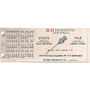 Celluloid Ink Blotter Booklet BD Needle for a Syringe Premium 1930
