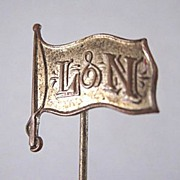 Vintage Louisville & Nashville (L&N) Railroad Brass Stickpin - Red Tag Sale Item
