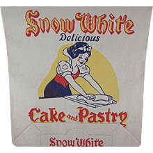 Snow White Cake and Pastry Flour Paper Bag Not Used