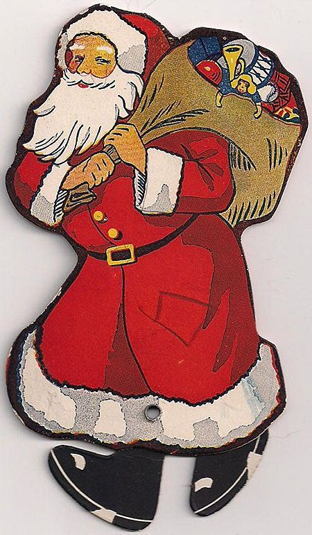 Star Baking Co. Walking Santa Freebie 1922 Cardboard