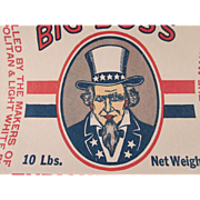 Big Boss Paper Enriched Flour Bag with Uncle Sam Not Used