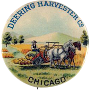 Early Deering Harvester Co. Pinback Button