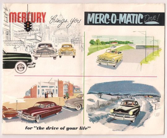 2 Mercury Automobile c.1950 Salesroom Brochures