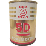 Cities Service 5D Koolmotor Oil Can Bank Tin Litho Premium