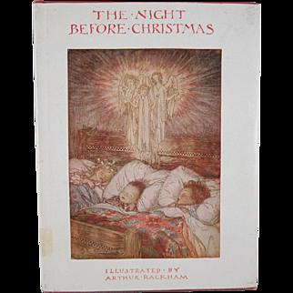 The Night Before Christmas Illustrated by Arthur Rackham Hard Back Book