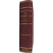 Practice of Medicine 1936 Hard Back Book by Jonathan Campbell Meakins, M.D., LL.D. - Red Tag Sale Item