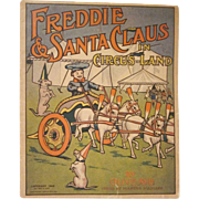 Early Soft Cover Book Freddie & Santa Claus in  Circus Lane 1908