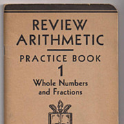 'Review Arithmetic Practice Book 1' United States Armed Forces Institute paper back Book