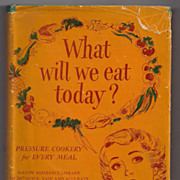 'What Will We Eat Today? Pressure Cooker Cookbook' Hard Back Book