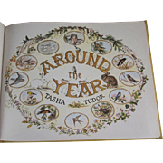 Around the Year Hard Back Book by Tasha Tudor with Incredible Pictures