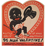 Rosen Black Americana Valentine, Sucker Holder Not Used