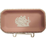 Wedgwood Pink Jasperware Pin Dish Tray