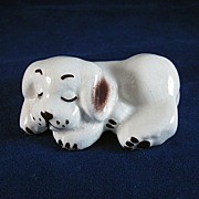 Walker Potteries California Sleeping Dog Figurine